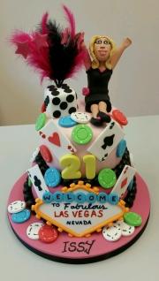Girls 21st las Vegas cake
