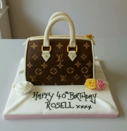 Louis Vuitton handbag ladies 40th cake