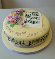 Ladies 70th birthday cake