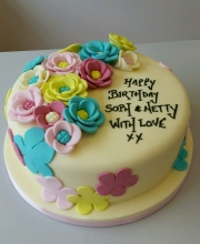 Ladies flowery birthday cake