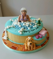Ladies 60th Hot tub birthday cake