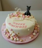 Ladies 50th birthday cake