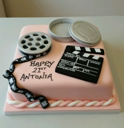 Girls 21st film media cake