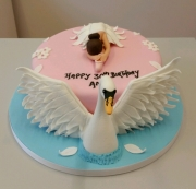 Ladies 30th birthday cake swan lake ballet