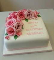 Ladies 90th birthday cake