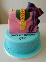 Girls 21st handbag cake