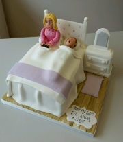 Ladies bedroom birthday cake