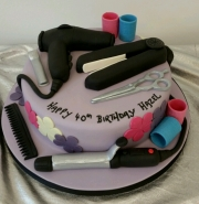 Hairdressers 40th birthday cake