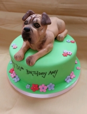 Ladies 30th dog cake