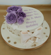 Ladies Peony birthday cake