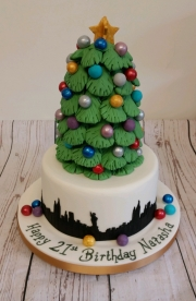 Girls 21st Christmas in New York cake