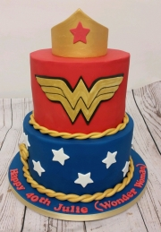 Ladies 40th Wonder Woman birthday cake