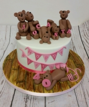 Ladies 40th teddy bear birthday cake