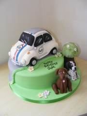 Beetle-and-dogs-Cake
