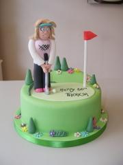 Lady-golfer-cake