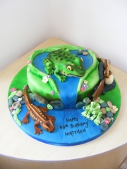 Pond-life-frogs-cake