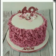 Ladies 60th ruffle cake