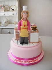 lady-baking-60th-birthday-cake