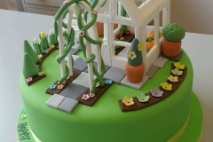 Garden and Greenhouse cake