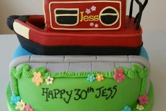Canal Barge Boat Cake