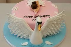 Swan Lake Ballet cake