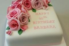 Handmade sugar roses cake