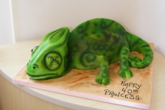 Chameleon 3D Cake