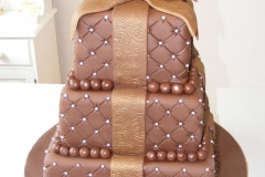 Chocolate tiered cake