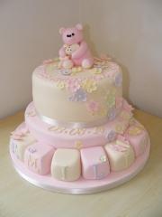Girls-2-Tier-Christening-Cake