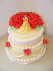 Princess-and-roses-cake