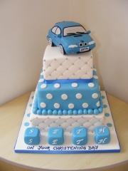 Tiered-Boys-Christening-Cake