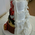 2 themed wedding cake