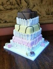 French Fancies wedding cake