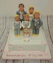 The family portrait wedding cake