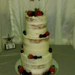 Semi naked fresh fruits wedding cake