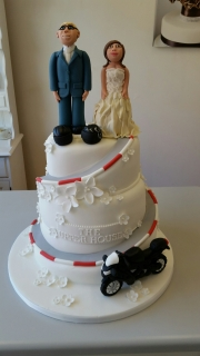 Winding Road Motorbike wedding cake