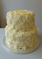 Buttercream rosette wedding cake
