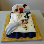 The drunk wedding night cake