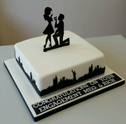 New York Engagement cake