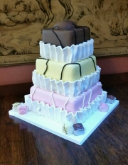 French Fancies wedding cake