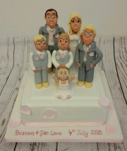 The family portrait wedding cake