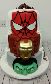 Superhero marvels wedding cake