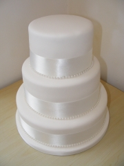 3-Tier-Plain-White-Wedding-Cake