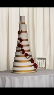 9-Tier-Fresh-flower-Wedding-Cake
