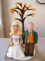 Bride-and-Groom-Autumn-Tree