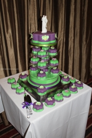 Mini cake wedding cake